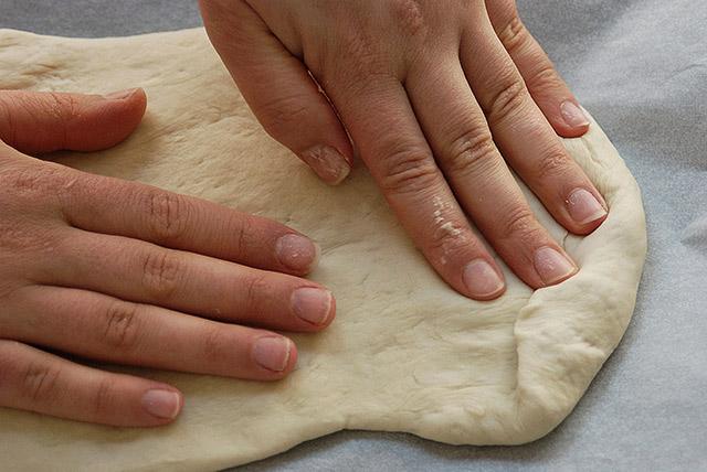 משטחים עם האצבעות