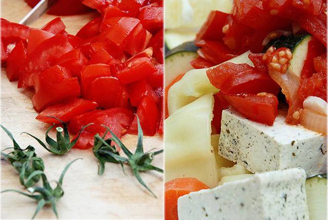 טופו אפוי בעגבניות