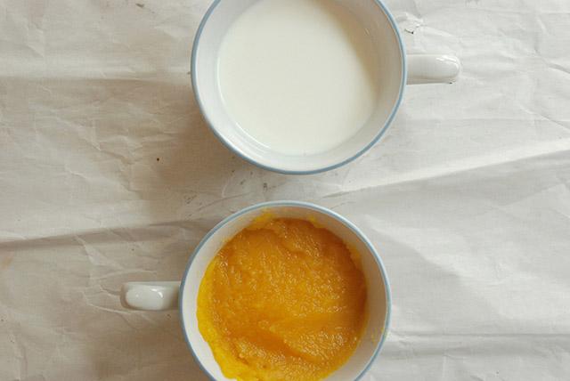 חלב ומחית דלעת